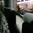雪明かり。